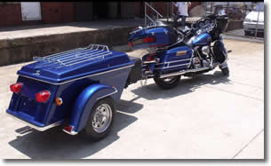 Legacy pull behind motorcycle trailer