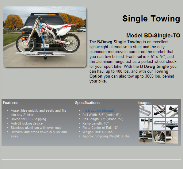 BD-Single with Towing Rec.