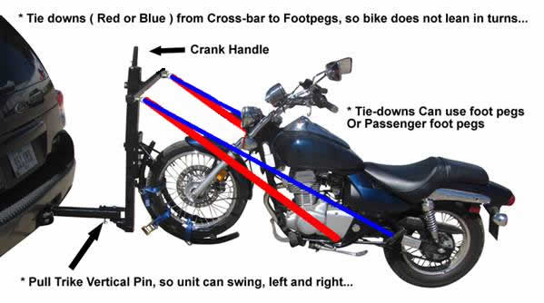 Motorcycle Front wheel tow system