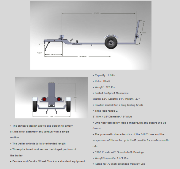 Stinger Trailer Specifications