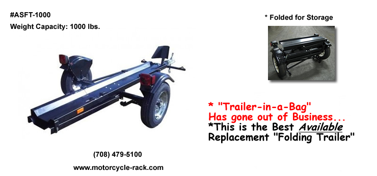 Aluminum Motorcycle Ramp Tow Behind Motorcycle Cargo Trailer