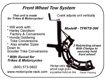 Trike Front Wheel Tow